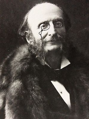 Antique Rppc Portrait Of Jaques Offenbach 1819-1880 German Born French Composer