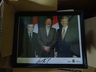 Photo of past Prime Minister of Canada, Stephen Harper, signed