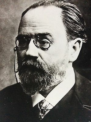 Antique Rppc Portrait Of Emile Zola1840-1902 French Writer Playwright Journalist