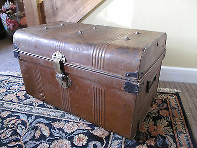 Vintage Trunk Coffee Table  Antique Storage Trunk