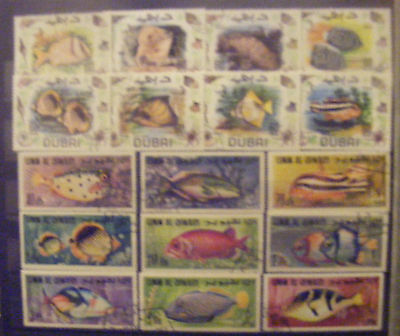 F012 - 17 timbres poissons