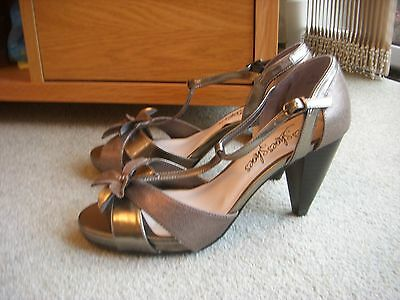 Ladies Pewter Shoes from M & S Size 5.5 NEW
