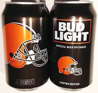 Bud Light Cleveland Browns 2016 beer 12oz can 665594 Kickoff NFL Limited Edit BO