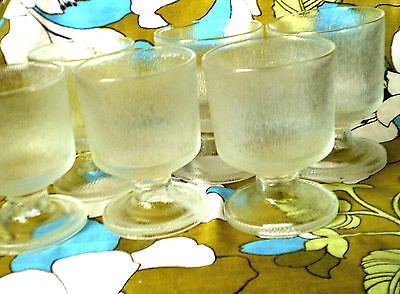 Mid Century Modern Atomic lot 6 footed tumblers Norse Pattern