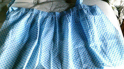 Vintage apron Blue-Plaid all around waist handmade-country look