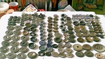 NEW $-Lot over 100 Plastic/pearl finish iridescent vintage buttons medium/large