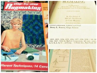 Vintage McCall's step-by-step Rugmaking 1968 magazine
