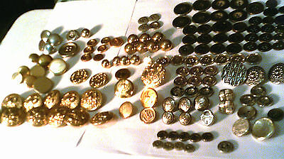 NEW LOW PRICE-Lot vintage Metal/Enamel gold/silver various shades sizes