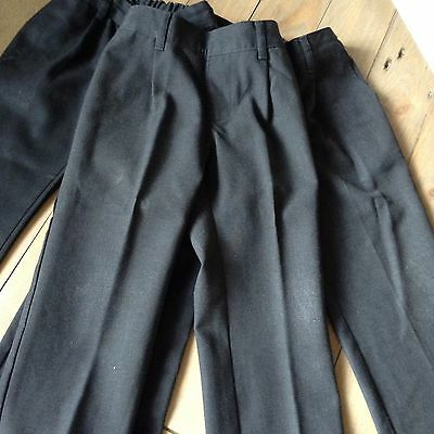 Three Pairs Of Charcoal Grey School Trousers Age 3-4 Years
