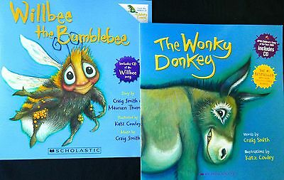 Craig Smith  WILLBEE THE BUMBLEBEE  /THE  WONKY DONKEY  New PBs + CD in each.