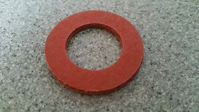 10 NEW M5 X 10mm OUTSIDE DIAMETER RED FIBRE SEALING WASHERS 0.8mm THICK