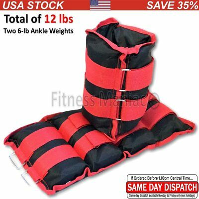 Ankle Weights Running Fitness Gym Exercise Strength Training 16 lb (2 X 8 lbs.)