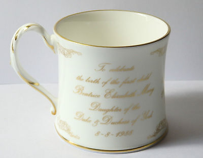 Limited Edition Coalport Mug To Commemorate The Birth Of Princess Beatrice