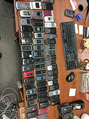 80+ phones - verizon - att - sprint - nextel - flip - keyboard - for parts