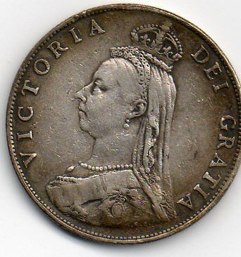 1887 silver florin, very good grade.