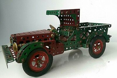 Vintage Meccano Pick Up Truck circa 1930/40s Red and Green