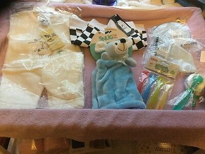 Bundle little boys clothes and accessories age 0-3 months New .