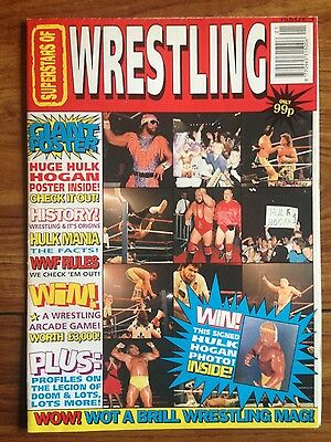 Superstars of Wrestling Magazine Issue 1 (Pre- Power Slam) 1992 Powerslam