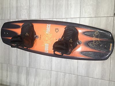 Liquid Force 131 Wakeboard polycore with obrien analog bindings boys size