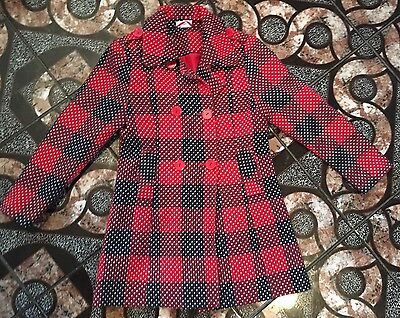 Girls Red Coat Age 7-8 From Next