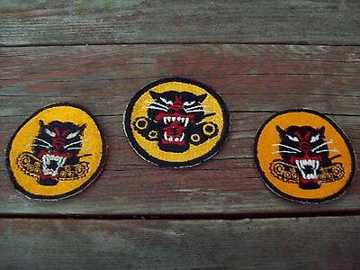 Lot of 3 U.S. Army Tank Division shoulder patches