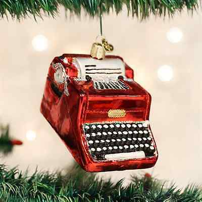 *Typewriter* [32256] Old World Christmas Glass Ornament - NEW