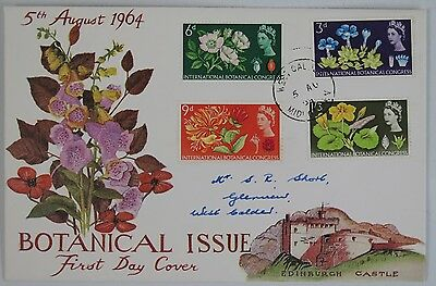 British stamps first day cover 1964 International Botanical Congress.