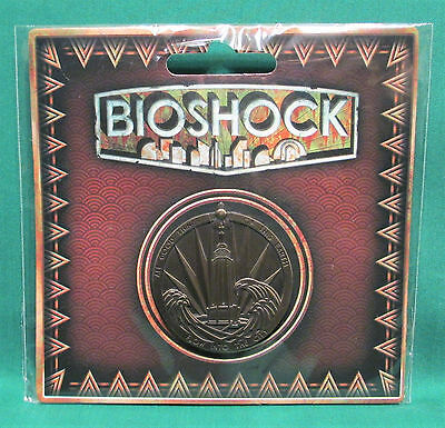 """BioShock Rapture Medallion Pin Collectible Badge Pin 1.75"""" Officially Licensed"""