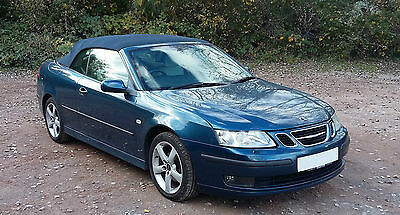 Saab 9-3 Vector 2.0t Convertible - 2005 - Blue Met with Cream Leather - FSH
