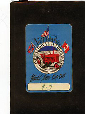Neil Young 1984-85 World Tour - backstage satin pass