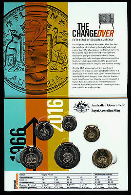 2016 Australia 50th Anniversary Changeover Coin Set in holder (from RAM bags)