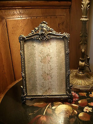 Superb Ornate French Antique Bronze Picture Frame  Garlands Flowers  1888/1900
