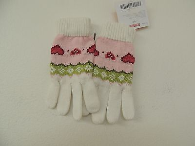 gymboree Size 5-7 Heart Knit Girls Gloves NEW
