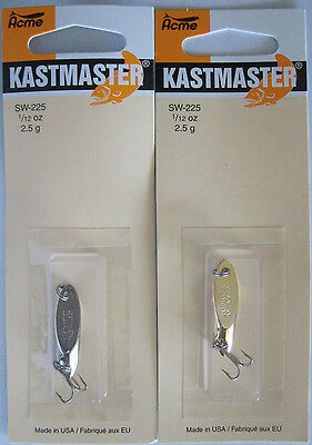 2 Pks. Acme Tackle KASTMASTER Fishing Lures - 1/12 Ounce  - Two Popular Colors