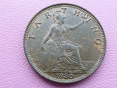 George v Farthing coin 1930 good grade