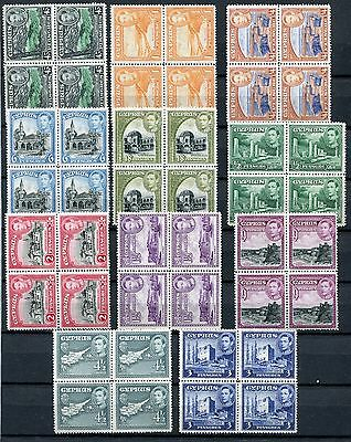 Cyprus - Blocks of 4, MNH VF Qualities