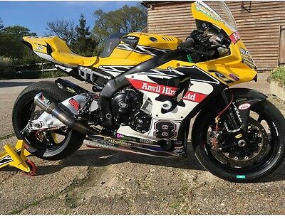 YAMAHA R1 2015 + exhaust system AUSTIN RACING SILVER TIP WITH TITANIUM remove ca
