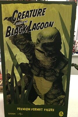 Sideshow CREATURE From BLACK LAGOON Premium STATUE Figure Opened And Displayed