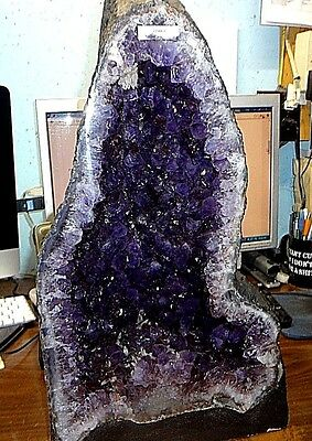 "21"" Museum Grade  Brazilian  Amethyst Crystal Cathedral Geode Cluster"