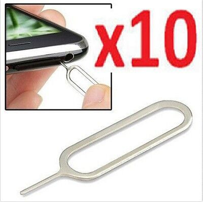 10x SIM CARD TRAY REMOVER EJECT PIN KEY TOOL NEEDLE IPHONE 4S 5 5S 6 PLUS HUAWEI