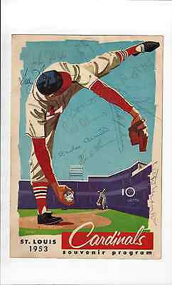 1953 St Louis Cardinals v Pittsburgh Pirates Carlos Bernier Signed Program
