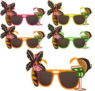 Adult Flamingo Cocktail Hawaiian Novelty Sun Glasses Hen Stag Party Fancy Dress