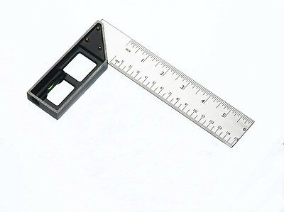 """Fisher Try & Mitre Square 6"""" / 150mm - DIY Measuring Ruler Hand Tool - F26ME6"""