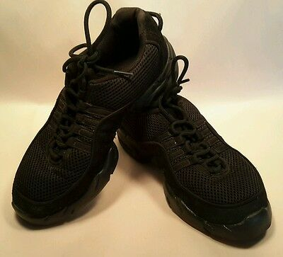 Used Bloch S0358L Ladies Dance Sneaker Black Shoes Size 10.5 Fitness Aerobics