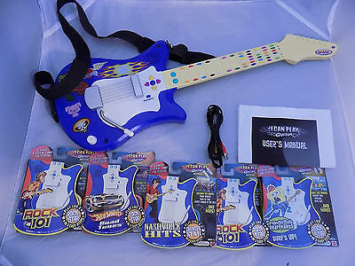 Mattel I Can Play Guitar With 5 Cartridges Plus TV Jack
