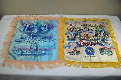 Vintage WWII Era United States Navy Lackland Air Base Texas Pillow Case Lot