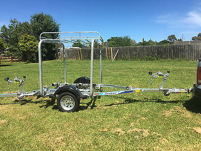Dunbier Roller Jetski Trailer with Trailer Rack all Setup Ready to Go