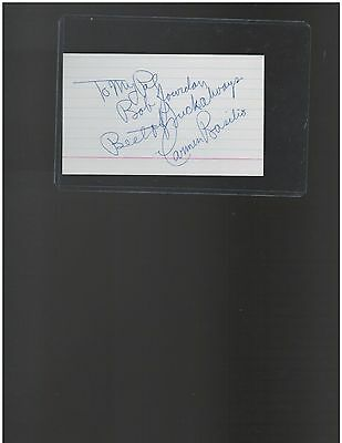 Carmen Basilio Boxing Welterweight, Middleweight Champion Autographed 3 x 5 card