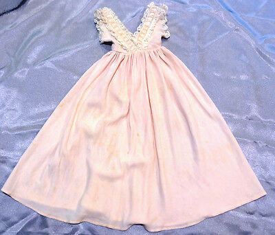 "Vintage TAGGED PINK GOWN for 20"" Cissy Doll - c.1950s  dress outfit clothing"