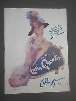 Lou Walters 1948 Latin Quarter Night Club New York Program / Lucille Ball